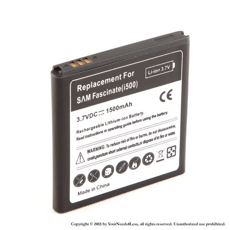 YN4L® 1500mAh Replacement Battery for Samsung Fascinate SCH-i500 ; Samsung Mesmerize i500 ; Samsung Showcase i500