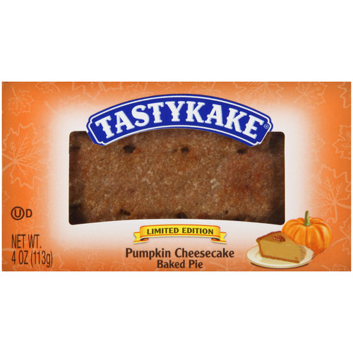 Tastykake Limited Edition Pumpkin Cheesecake Baked Pie, 4 oz