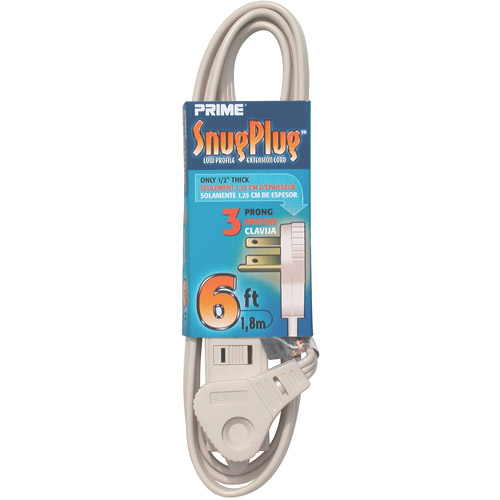 Prime Wire 6-Foot 16/3 SPT-2 3-Outlet Cord, Almond