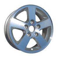 Aftermarket 2008-2013 Dodge Grand Caravan  16x6.5 Alloy Wheel, Rim Sparkle Silver Painted with Machined Face - 2334
