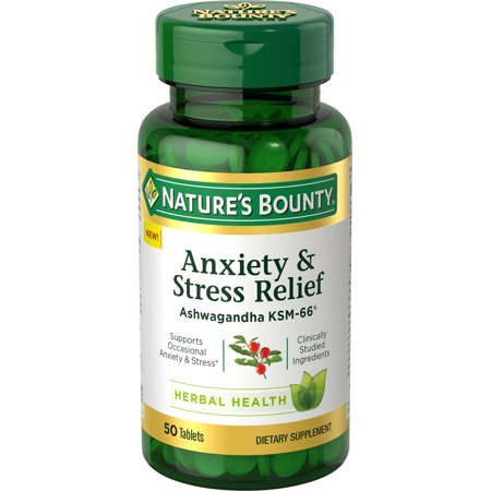 Nature's Bounty® Anxiety & Stress Relief, Ashwagandha KSM-66*, 50