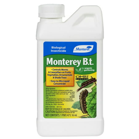 MONTEREY LAWN & GARDEN PROD B.T. Biological Organic Insecticide, 1-Pt. LG6332