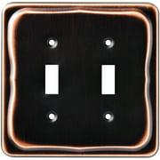 Tenley Double Switch Wall Plate, Bronze