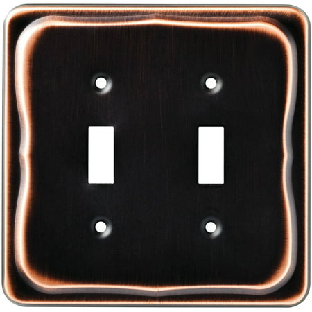 Tenley Double Switch Wall Plate, Bronze