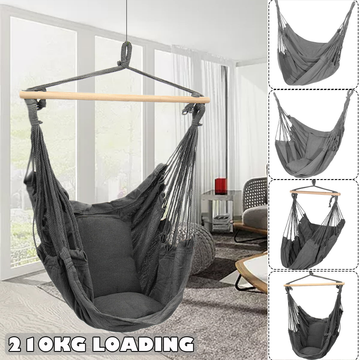 Picture of: 4 Options Hanging Hammock Chair Seat Cotton Swing Seat Set Hanging Hardware Kit Hammock Rope Chair Cushion For Home Garden Patio Porch Indoor Outdoor Walmart Canada