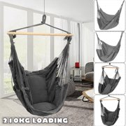 4 Options Hanging Hammock Chair Seat Cotton Swing Seat Set Hanging Hardware Kit Hammock Rope Chair Cushion For Home Garden Patio Porch Indoor Outdoor