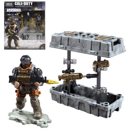 Assault Weapon Crate Call Duty Mega Construx Figure & Weapons 43 pcs ()
