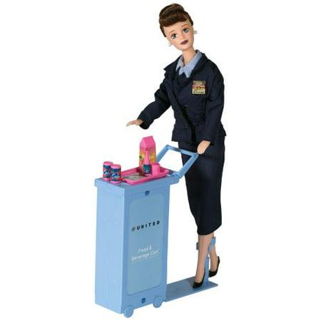Daron United Airlines Flight Attendant (Airlines Flight Attendant Doll)