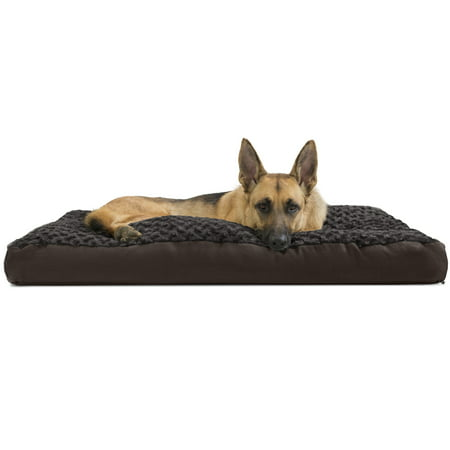 FurHaven Pet Dog Bed | Deluxe Plush Pillow Pet Bed for Dogs & Cats, Chocolate, Extra Large (Dog Beds For Extra Large Crate)