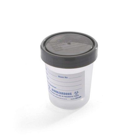 - Specimen Container, Urinalysis, With Gray Plastic Screw-On Lid, Single Patient Use, Polypropylene, Clear (Pack of 25), 4 oz. polypropylene container By MediChoice Ship from US