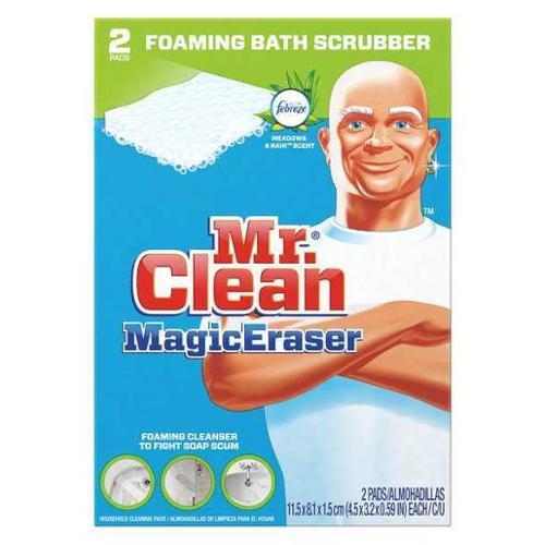 MR. CLEAN PGC27141 Bath Scrubber,White,PK32
