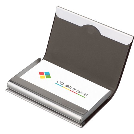 huge discount 3ede6 08241 TSV Business Card Holder Leather & Stainless Steel Multi Card Case Business  Name Card Holder Wallet with Magnetic Shut Credit Card ID Case/Holder for  ...