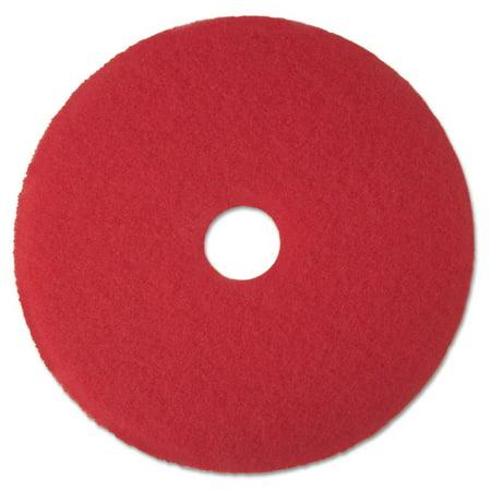 "Low-Speed Buffer Floor Pads 5100, 19"" Diameter, Red, 5/carton"