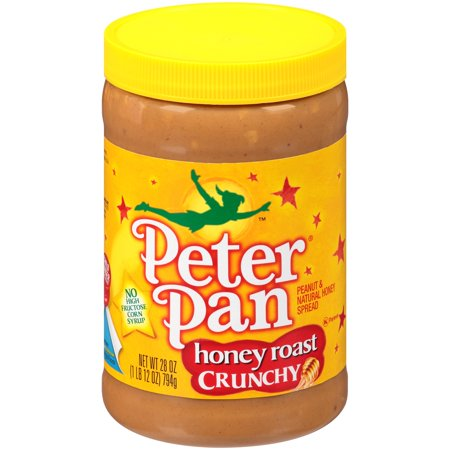 Peter Pan  Honey Roast Crunchy Peanut   Natural Honey Spread 28 Oz  Jar