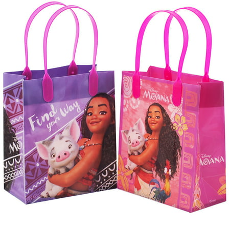 Moana 12 Authentic Licensed Party Favor Reusable Small Goodie Gift Bags - Frozen Goodie Bags
