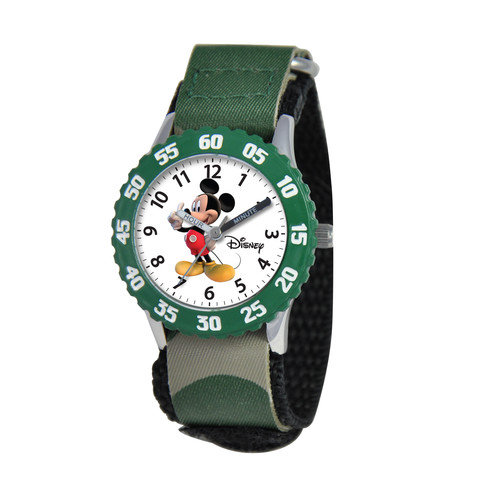 Disney Watches Kid's Mickey Mouse Time Teacher Watch in Green
