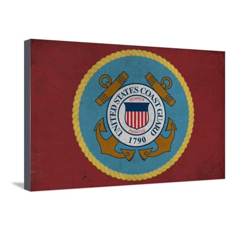 United States Coast Guard - Military - Insignia Stretched Canvas Print Wall Art By Lantern Press