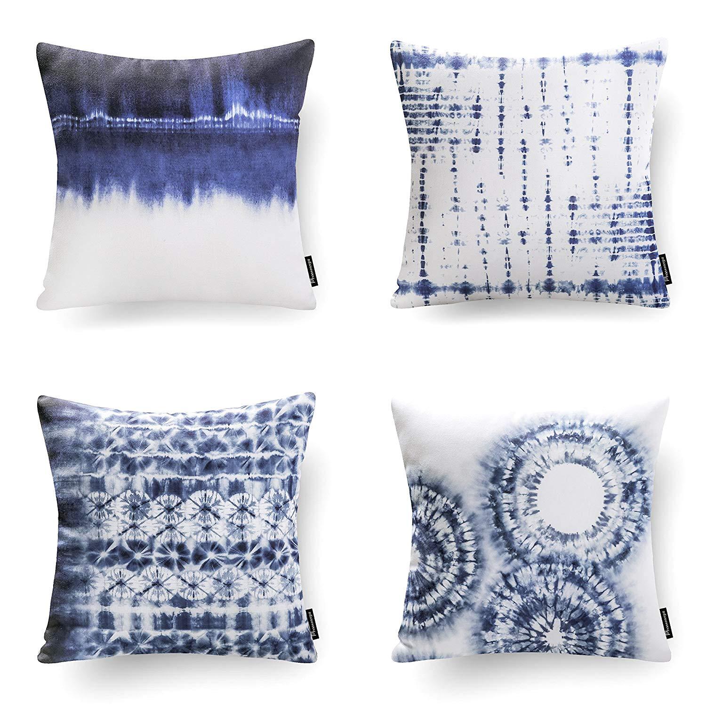 Set of 4 Phantoscope Throw pillow covers New Home Living Coffee Color Decorative Throw Pillow Case Cushion Covers Set of 4 (Pillow Covers Only)