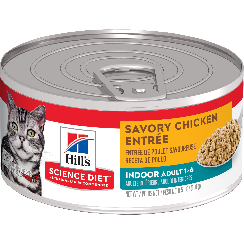 Hill's Science Diet (Spend $20, Get $5) Adult Indoor Savory Chicken Entree Wet Cat Food, 5.5 oz, 24-pack (See description for rebate details)