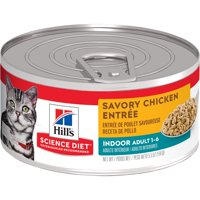 (24 Pack) Hill's Science Diet Adult Indoor Wet Cat Food, 5.5 oz Cans