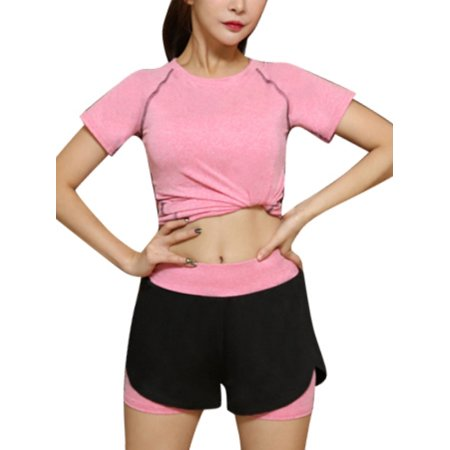 Womens Sports Shorts Casual Quick Dry Running Gym Yoga Hot Pants ()