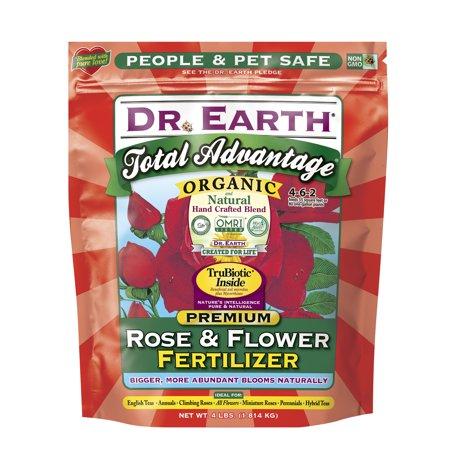 Dr. Earth Organic & Natural Total Advantage Rose & Flower Fertilizer, 4 (Best Fertilizer Flower Garden)