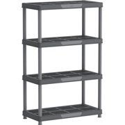 US Polymers 86501 36 x 18 x 56 in. 4 Tier Shelving Rack, Gray