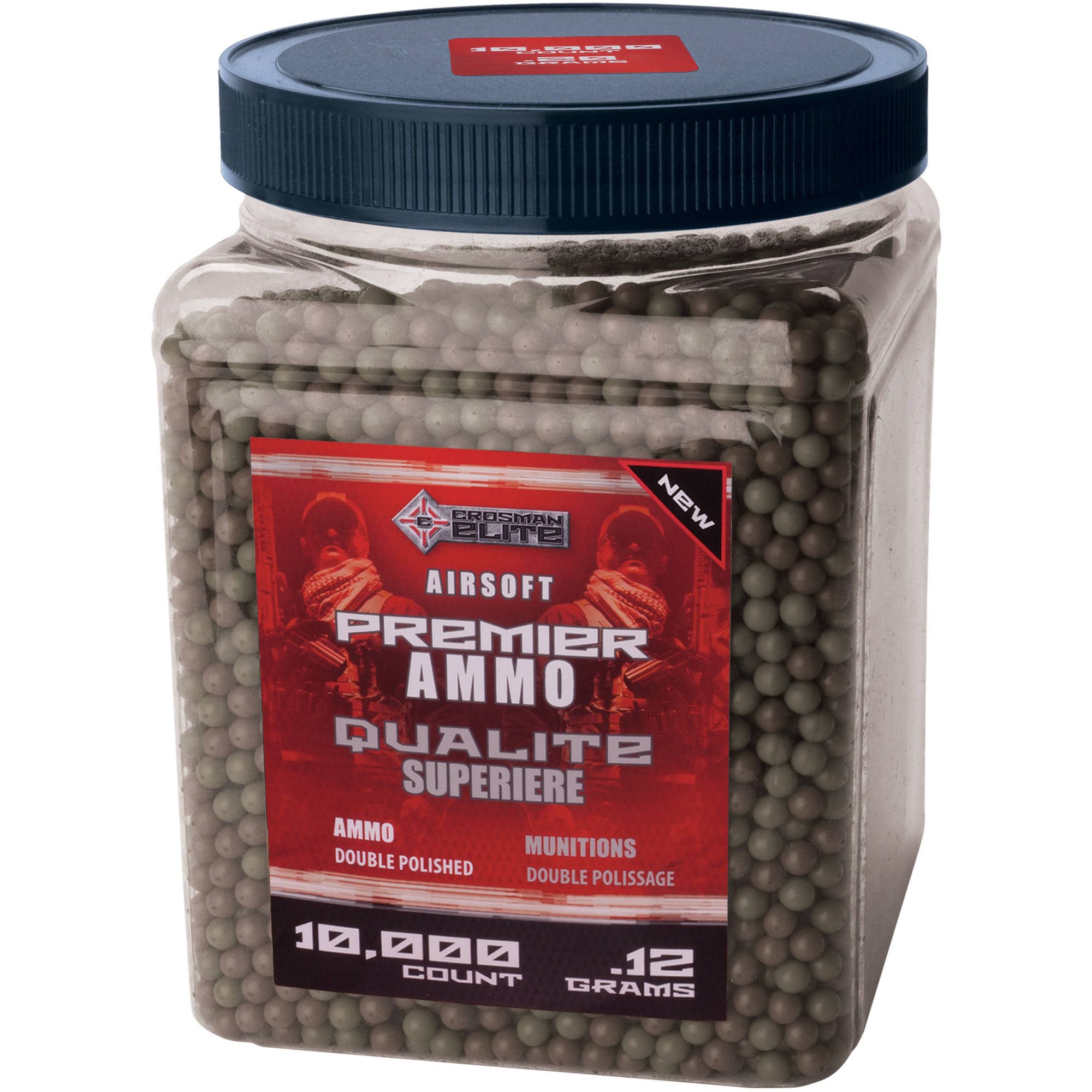 Crosman Airsoft Camo Ammo, 10,000ct