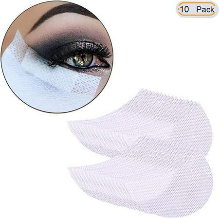 Yosoo 10 Pcs Eyeshadow stencils Professional Lint Free Under Eye Eyeshadow Gel Pad Patches For Eyelash Extensions/Lip Makeup