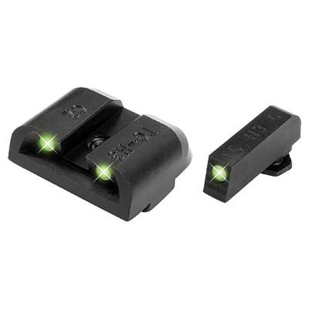 TruGlo Tritium Night Sight HIGH Set White/Green Front & Rear Glock Pistols - TG231G2