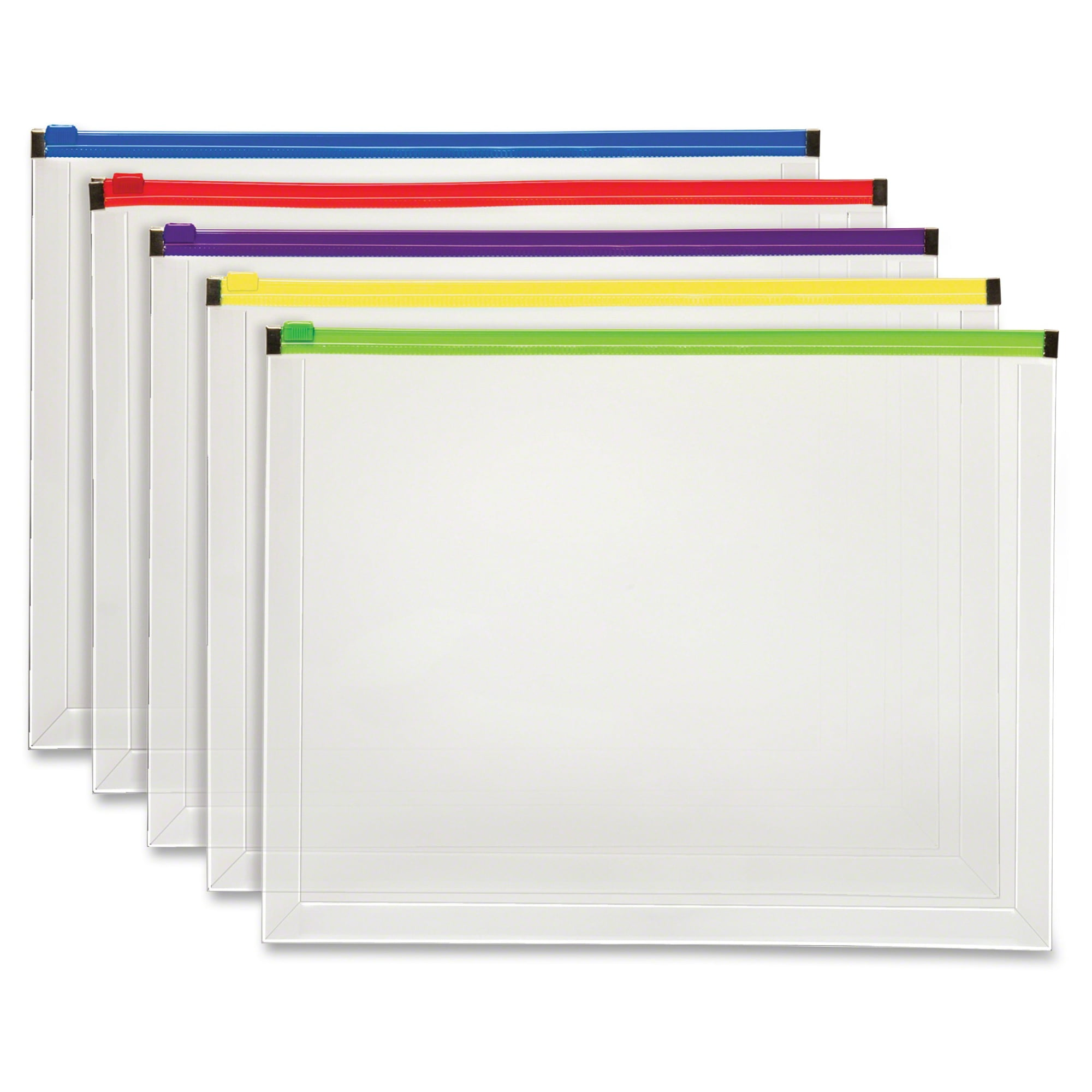 pendaflex poly zip envelope 10 x 13 open side assorted 5 pack