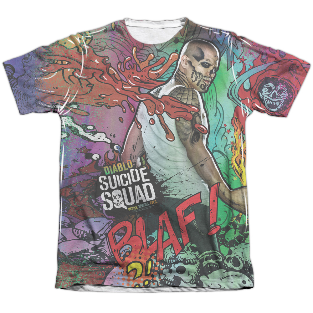 Suicide Squad Diablo Psychedelic Cartoon Mens Sublimation Shirt