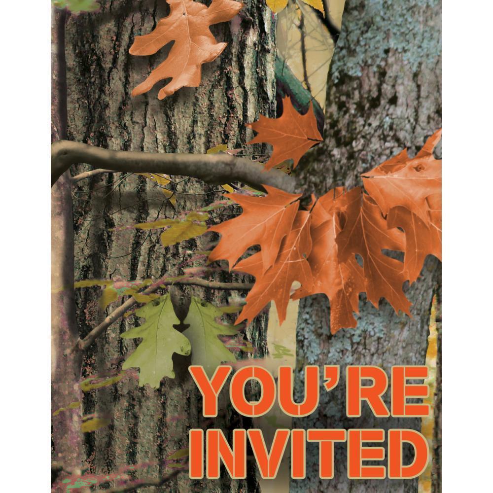 Creative Converting Hunting Camo Invitation Foldover, 8 ct