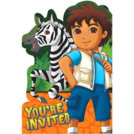 (Fun Diego's Biggest Rescue Birthday Party Invitations (8 Piece), 4-1/4 x 6-1/4