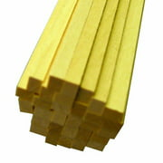 Midwest Products 4056 Micro-Cut Quality Basswood Strip Bundle, 0.1875 x 0.25 x 24 Inch Multi-Colored