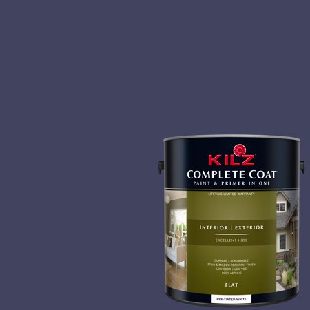 KILZ COMPLETE COAT Interior/Exterior Paint & Primer in One #RB100-02 Blue Galaxy