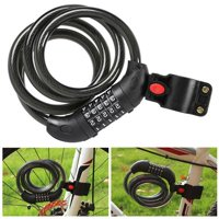 5-Digit Bike Lock Cable Combination Locks Self Coiling Coded Lock