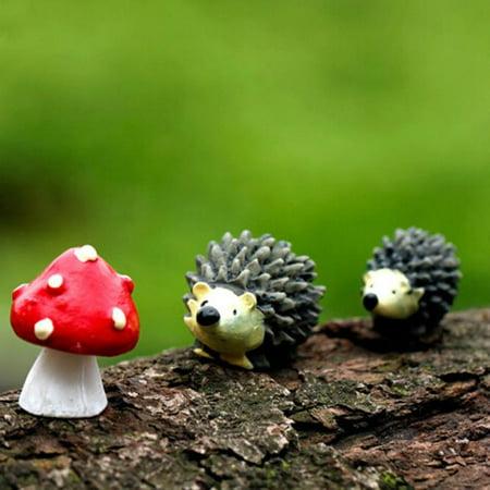 Decorative Item Set - Huppin's York's Street Small Decorative Items Serie Hedgehog Mushroom Fairy Garden Home Decor Set