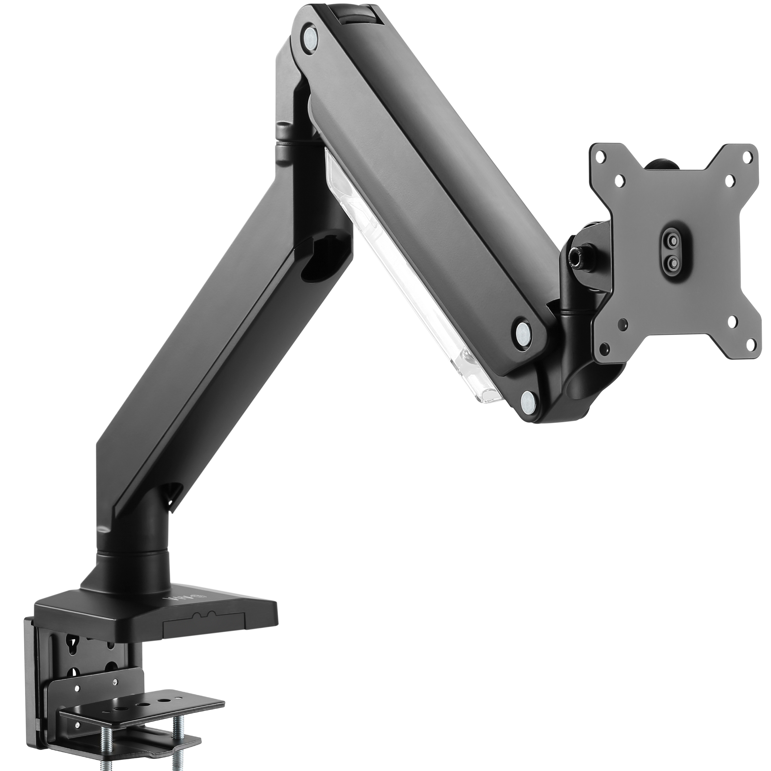 "VIVO Premium Aluminum Single Monitor Pneumatic Spring Arm Desk Mount Stand | Fits One Screen up to 32"" (STAND-V101G1)"