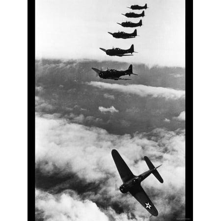 Douglas Dauntless Dive Bombers Print Wall Art