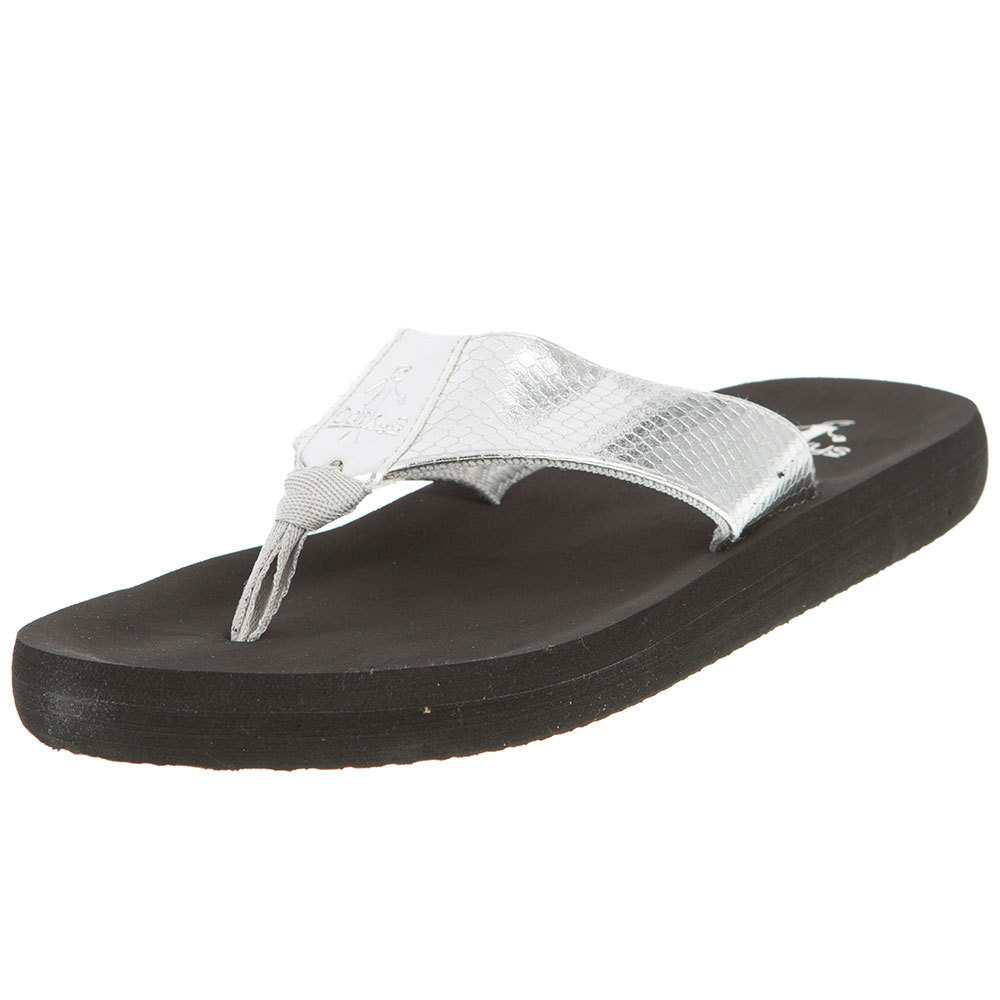 Corkys Footwear Womens Ladies Silver Flip Flop by CORKYS FOOTWEAR