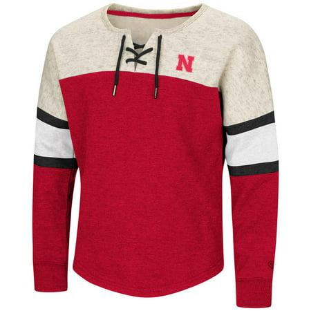 Nebraska Cornhuskers Girls Sweatshirt Oversized Pullover
