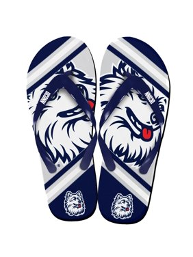 Connecticut Huskies Unisex Big Logo Flip Flops