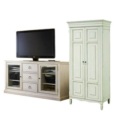 2 Piece Living Room Set With Tv Stand Tall Cabinet In Cotton