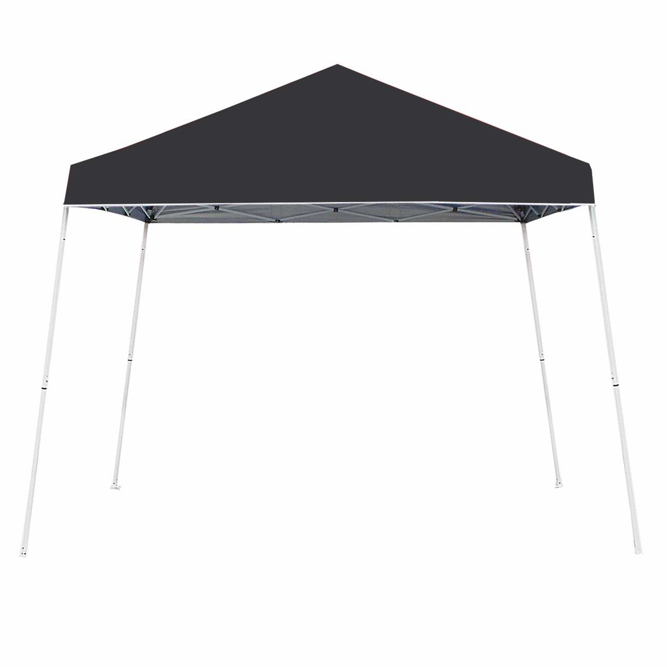 Z-Shade 10' x 10' Angled Leg Instant Shade Canopy Tent Portable Shelter, Black by Z-Shade
