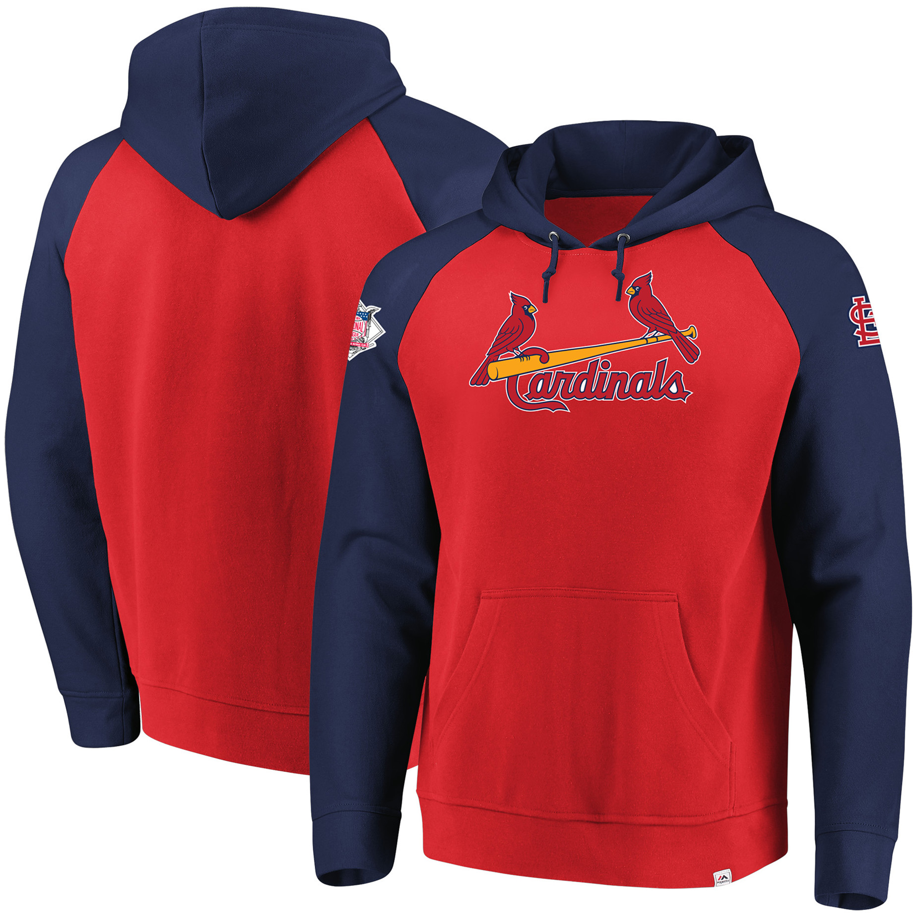 St. Louis Cardinals Majestic With Attitude Pullover Hoodie - Red