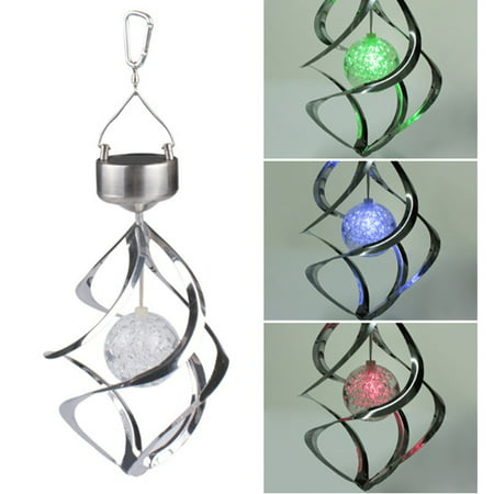 AGPtEK Solar Power LED Color Changing Wind Chime for Outdoor Garden Courtyard (Make Your Own Wind Chimes)