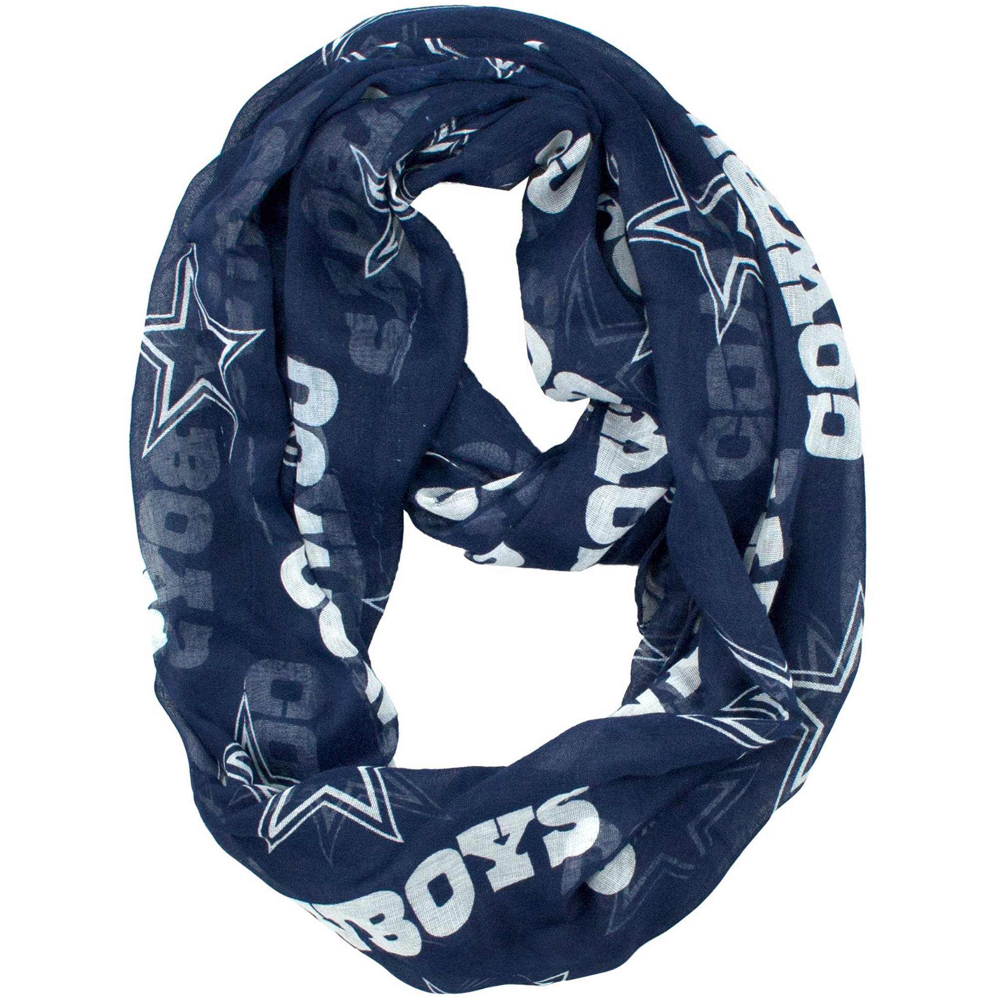 Little Earth - NFL Sheer Infinity Scarf, Dallas Cowboys