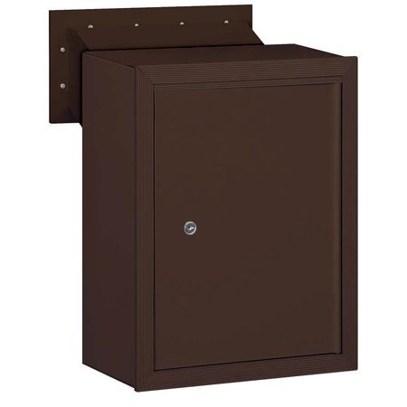 Receptacle in Powder Coated Bronze Finish ()