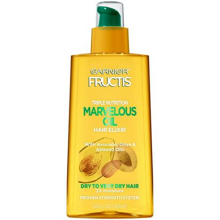 Garnier Fructis Triple Nutrition Marvelous Oil Hair Elixir, Dry to Very Dry Hair, 5 fl. oz.